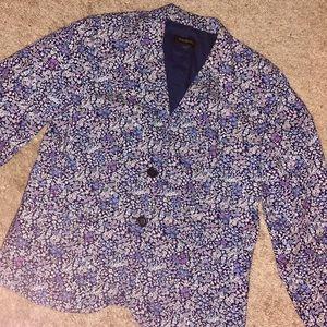 Talbots floral blazer